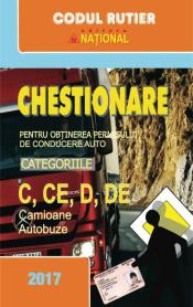 Chestionare pentru obţinerea permisului de conducere auto C+D 2017