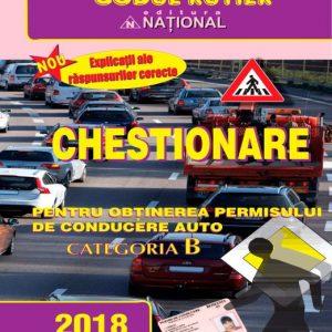Chestionare pentru obtinerea permisului de conducere auto Cat. B 2018
